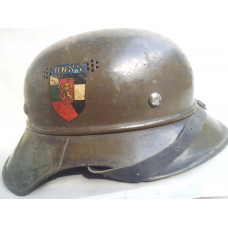 WWII GERMAN LUFTSCHUTZ GLADIATOR HELMET THREE PIECE M-38 1936 EX