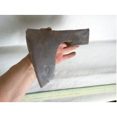 3.28 lbs. VINTAGE SIGNED HANDFORGED BEARDED AXE HATCHET HEAD VIK