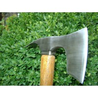 Elegant small bearded hatchet / axe combined with curved adze bl