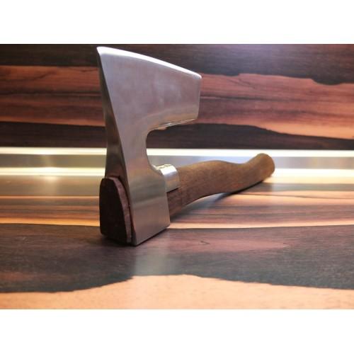 HATCHET METAL GUARD  CUSTOM MADE HANDLE ※ STAINLESS STEEL BEARDED AXE