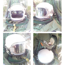 Original Cold War Soviet Mig pilot flight helmet and Soviet MIG